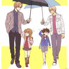 I wish they could all be friends with each other. Magic Kaito, Happy Tree Friends, Kaito Kuroba, Detective Conan Wallpapers, Kaito Kid, Detektif Conan, Kudo Shinichi, Fanart, Kaichou Wa Maid Sama