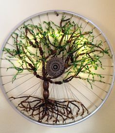 Moondapple Sapling Bicycle Art Recycled Bike Art, Spring Tree, Roots by katherynghill on Etsy https://www.etsy.com/listing/265578750/moondapple-sapling-bicycle-art-recycled