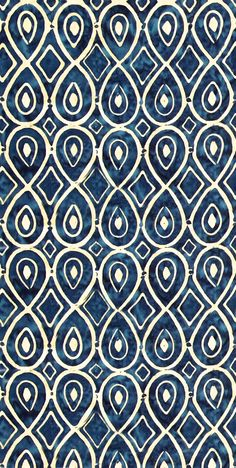 equilter,com, I love this color and the batik look of the pattern! Motifs Textiles, Textile Prints, Textile Patterns, Pretty Patterns, Beautiful Patterns, Color Patterns, Batik Pattern, Pattern Art, Motif Kimono