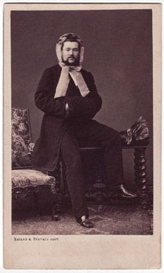 I couldn't resist...proof that not everyone was serious and stodgy in the Victorian era.  This man is a goofball!