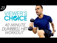 40 Min. Dumbbell Cardio Total Body Fat Burning HIIT Workout from Home | Viewer's Choice #23 - YouTube