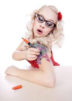Temporary Tattoo Pen Kit (create your own tattoos) Fake Tattoos Fake Tattoos, Temporary Tattoos, Tatoos, 2 Week Tattoo, Teacher Tattoos, Teachers With Tattoos, Non Permanent Tattoo, Create Your Own Tattoo, Tattoo Designs
