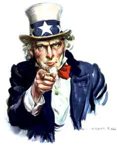 """Before Uncle Sam became a symbol of America's patriotism the initials """"U.S."""" were stamped on meat being shipped from the East Coast. The assembly line workers came up with 'Uncle Sam' as a substitue for """"U.S. Beef"""" and from there this iconic image grew."""