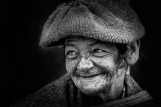 What a beautiful smile!!! *** by Gabriel Ramón. Old face, wrinckles, lines of life, cute, wisdom, powerful face, intense, portrait, b/w