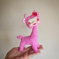 Little custom Yak... #needlefelting #craftersofinstagram #toymaking #violetpie