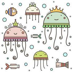 #денькрокодила #underwater #fish #jellyfish #sealife #drawing #illustration #digitalart #art #vector #cute #подводныймир #рыба #медуза #пузырики #рисунок #творчество