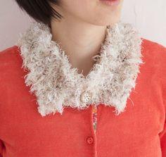 毛糸のティベットで、普段着がグレードアップ☆/カラフル毛糸の指編み小物(「はんど&はあと」2012年10月号)