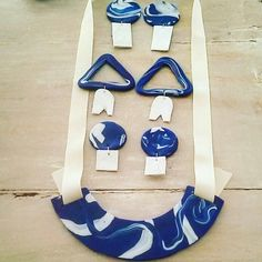 New babies coming soon. Stay tuned. We will be soon launching a new series of clay necklaces and earrings in the colors of Greece:blue, white and olive.