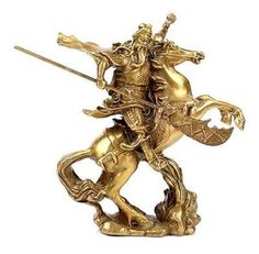 Chinese Ancient Hero Guan Gong Guan Yu ride on horse * bronze statue. Yesterday's price: US $49.99 (40.95 EUR). Today's price: US $42.99 (35.54 EUR). Discount: 14%.