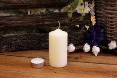 Κεριά Κυλινδρικά Εκρού Φ5x10εκ Pillar Candles, Taper Candles