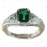 Emerald Ring - Would make an interesting engagement ring<----yes it would person i dont know *cough*HINT*cough*