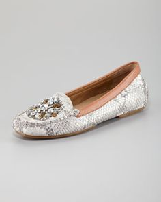 Mystic Metallic Snake-Print Jeweled Loafer by Donald J. Pliner at Neiman Marcus. $119.07