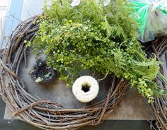Home is Where the Crafts Are Decor Crafts, Diy Crafts, Make Your Own Wreath, Moss Wreath, Christmas Wreaths, Christmas Decorations, Summer Decorating, Wreaths And Garlands, Decor Ideas