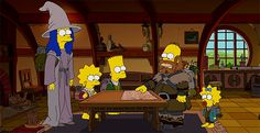 The Simpson's Couch Gag Does The Hobbit