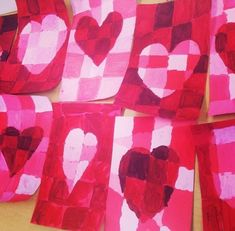 I've lumped all of my Valentine's Day projects together. These can also be substituted with shamrocks for St. Patty's. These are all pretty simple projects so I've just listed the materials I used. 1st/2nd grade Wax Resist hearts: 1/2 sheet of watercolor paper, pencil & eraser, water cup, paper towel, red or magenta watercolor, Cray … Continue reading Valentines's Day Elementary Art Lessons