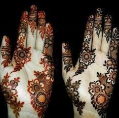 Henna was on the skin for 9 hours. Tip: to increase the life span of henna Add Lemon juice. Mehndi Designs Book, Mehndi Designs 2018, Mehndi Design Pictures, Modern Mehndi Designs, Wedding Mehndi Designs, Mehndi Designs For Fingers, Beautiful Mehndi Design, Simple Mehndi Designs, Henna Tattoo Designs