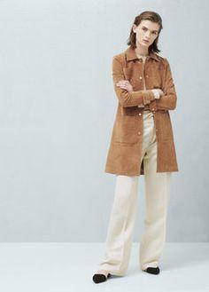 Suede coat | MANGO