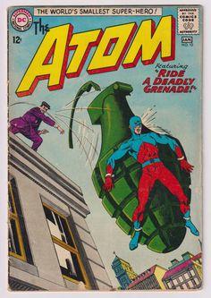 Atom; Vol 1, 10, Silver Age Comic Book.  VG (4.0). January 1964. DC Comics #atom #silveragecomics #comicsforsale