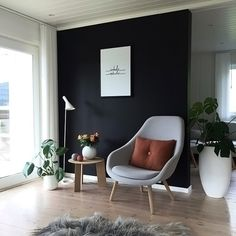 We just love this beautiful cosy corner by Only few of the large Cooee ball vases in white remaining in stock, link in our bio ✨ . Scandinavian Design Living Room, Rugs In Living Room, Scandinavian Living, Living Room Scandinavian, Home, Scandinavian Homewares, Home Deco, Beautiful Living Rooms, Scandinavian Decor Living Room