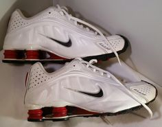 Nike Shox 6Y, White / Black / Red