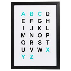 Alphabet Print - 35 X Wall Mount Included for sale online Alphabet Wall, Alphabet Print, Adairs Kids, Wall Spaces, Wall Prints, Room Decor, Target, Dream Bedroom, Room Ideas