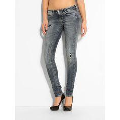 Jeans Flex Jean by Guess    GUESS präsentiert FleX Jean® by GUESS, die neue Komfortjeans-Generation. Durch die Kombination aus indigofarbenem Garn, Baumwolle und Spandex, um beste Stretch-Eigenschaften zu erlangen, diese Jeans sind bequem wie Ihre Sweathose, aber mit der Sexy und charakteristischen Passform, die man von GUESS gewohnt ist.    Dezente Used-Optik.  Innere Beinlänge ca. 86 cm.  90%...