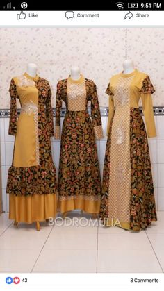 Com - Prom Dresses Design Batik Fashion, Abaya Fashion, Fashion Dresses, Kurta Designs Women, Blouse Designs, Batik Muslim, Dress Batik Kombinasi, Mode Batik, Moslem Fashion