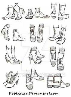Foot drawing examples