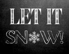 life {illustrated}: Let it Snow! printable art