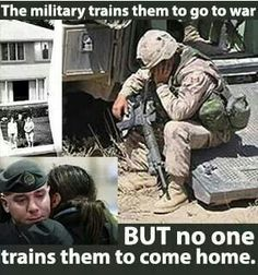 Everyone forgets the effects the war has on these guys. They come back and theyre not the same! Remember that!!!