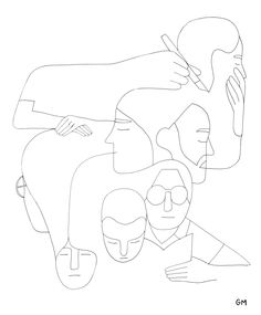 Geoff McFetridge    lesson idea: tagging the different me's