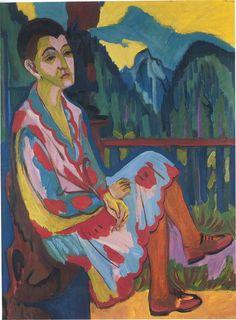 Ernst Ludwig Kirchner (1880 -1938) is de belangrijkste vertegenwoordiger van het Duits expressionisme en wordt door velen gezien als voorman van Die Brücke (de Brug), een kunstenaarscollectief dat van 1905 tot 1913 actief was en later uiteenviel.