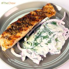 Grilled Salmon with Shaved Cucumbers and Dill by Michael Symon! #TheChew #5in5