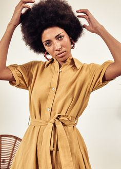 Sustainable Clothing, Sustainable Design, New Earth, Made Clothing, Gold Dress, Summer Collection, African Fashion, Wrap Dress, Shirt Dress