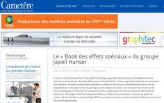 Article sur Le Book des effets spéciaux Japell Hanser Sag 2015