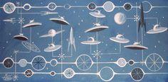 El Gato Gomez flying saucers and rockets
