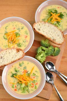 Cheddar Broccoli Soup - Food Doodles