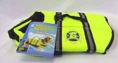 Dog Life Jacket Vest Paws Aboard Small Doggy New Bright Neon Yellow #PawsAboard