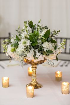 Fun and Beautiful Wedding Complete with Pasta and Taco Stations Taco Station, Gold Wedding, Rustic Wedding, White Floral Centerpieces, Gold Vases, Plan Your Wedding, Wedding Details, Wedding Bouquets, Greenery
