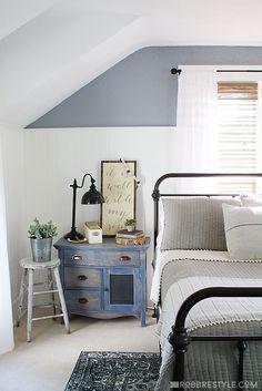 Vintage Industrial Farmhouse style bedroom design