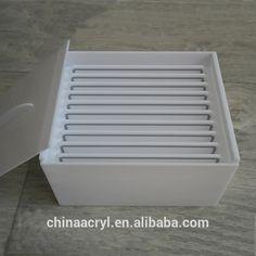 Source Beauty Supplies Eyelashes Organizer Storage White Acrylic Lashes Box on m.alibaba.com