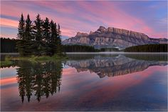 Moments to Remember; photograph  by Christian Klepp. Mt. Rundle, Banff National Park.