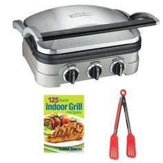 Cuisinart 15 in L x 16 in W 1800 Watt Stainless steel Foldable Electric Griddle