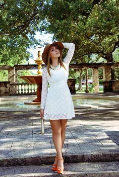 Get this look (dress, hat, sandals) http://kalei.do/Wk4uwdCBo187elex