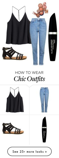 """""""Bye jeans✋Hello shorts"""" by emi-elephant on Polyvore featuring H&M, Topshop and Max Factor"""