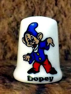 Character porcelain thimble Dopey from Disney Snow White