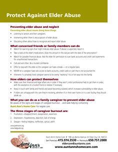 Protecting Against Elder Abuse  #seniorcare