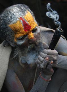 hindu holy man at festival honoring Shiva