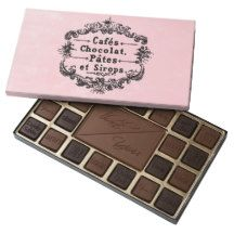 Pink Paris Customized Chocolate Box 45 Piece Assorted Chocolate Box.  Shipped anywhere in the US.