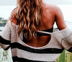 Loose, striped sweater